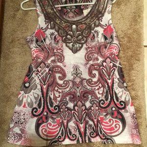 NWT CATO Sleeveless tank shirt top sparkly S